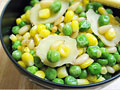 Pine Nuts w/ Corn and Peas