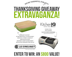 Le Creuset/KitchenIQ Thanksgiving Giveaway (CLOSED)