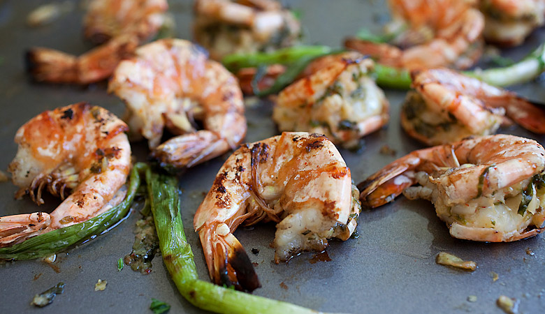Grilled Shrimp with Kimchi-Miso Butter Backyard Jerk Chicken Philips ...