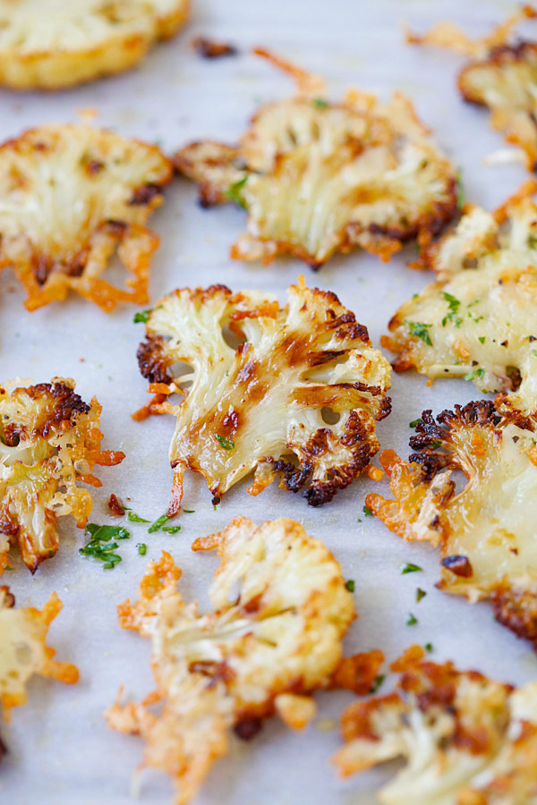 Parmesan Roasted Cauliflower - the most delicious cauliflower ever ...