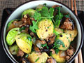 Brussels Sprouts and Pork in Black Bean Sauce