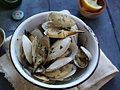 Soft Shell Clams (Steamers) with Garlic Butter