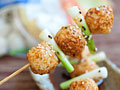 Teriyaki-Glazed Fish Balls