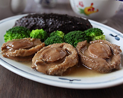 Braised Abalone with Sea Cucumber Braised Chicken with Carrot and ...