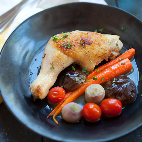 Braised Chicken with Carrot and Mushroom