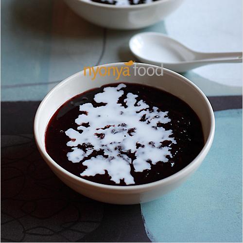 Bee Koh Moy/Bubur Pulut Hitam (Black Sticky Rice Dessert)