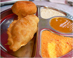 Curry Puff and Vadai