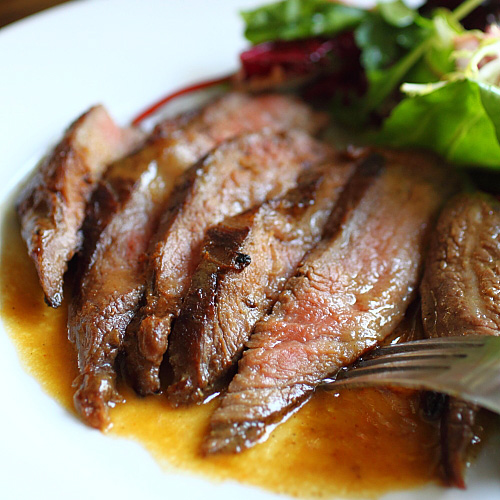Flank Steak with Mizkan Ponzu and Miso Butter