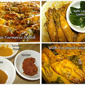 Masala Turmeric Squid with Coconut Cream Recipe