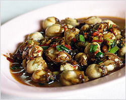Oysters with Bean Sauce (Taucheo)