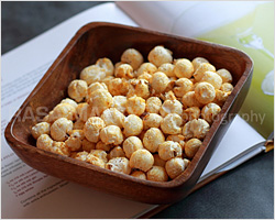 Curry Popcorn (My Recipe on Asian Cocktails Cookbook)