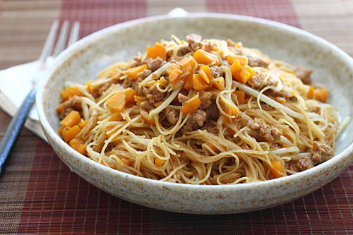 Pumpkin Rice Noodles | Easy Delicious Recipes