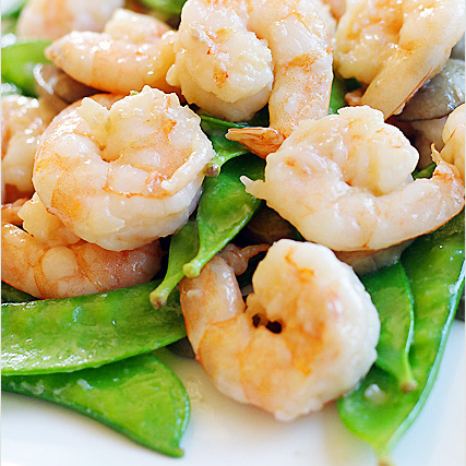 Shrimp with Snow Peas Recipe