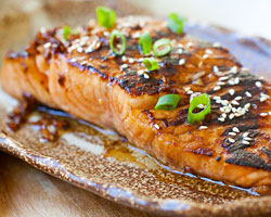 Sweet & Spicy Sriracha-Glazed Salmon