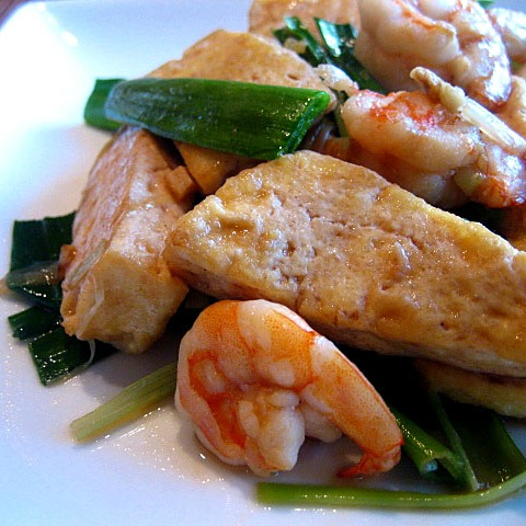 Stir-fried Bean Curd with Leeks Recipe