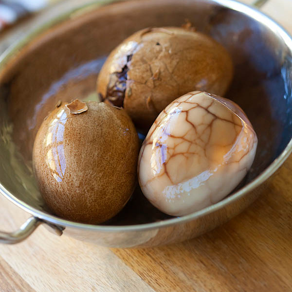 Chinese Tea Eggs (Tea Leaf Eggs) Recipe