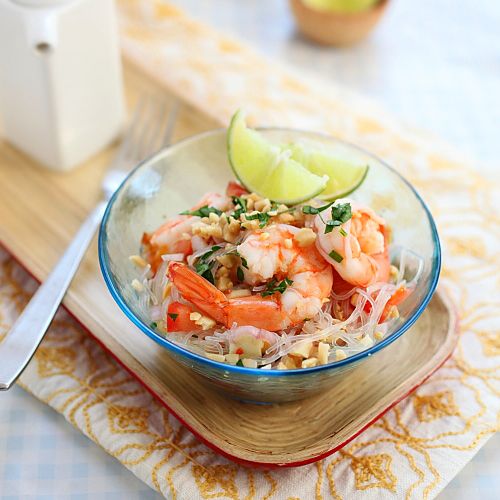 Thai Noodles Salad with Shrimp