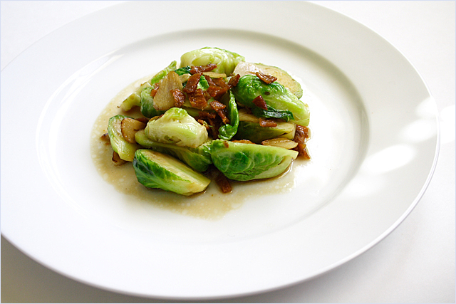 Stir-fried Brussel Sprouts with Dried Sole | Easy Delicious Recipes