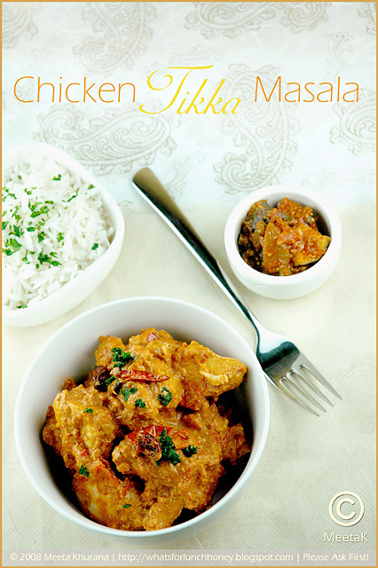 Indian Food: Chicken Tikka Masala Recipe
