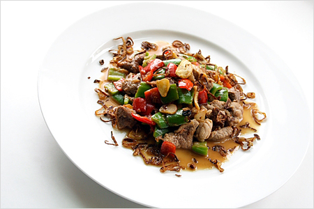 Stir-fried Pork with Cincaluk (Heh Ya Kay Char Bak)