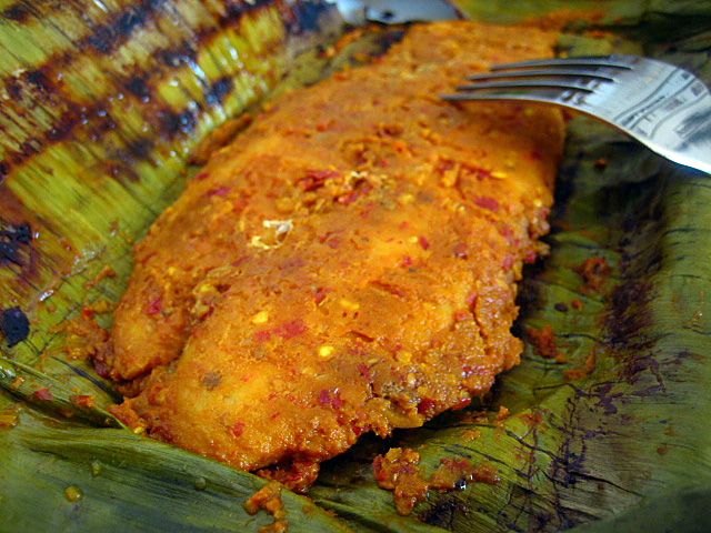 Ikan Panggang/Ikan Bakar (Grilled Fish in Banana Leaf)
