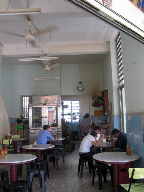 Inside a Not So Busy Kopitiam
