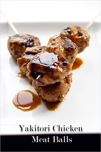 Grilled Chicken Meat Balls / Yakitori Meat Balls