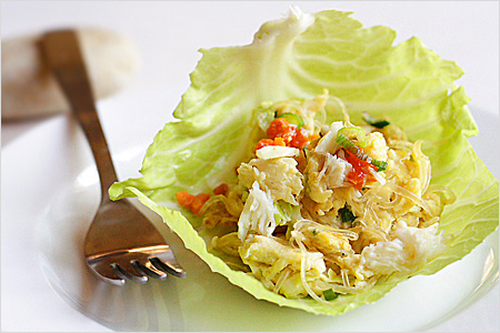 Imitation Shark's Fin and Crab Meat Omelette