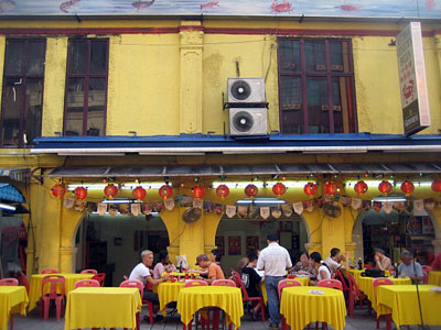 A Typical Open-Air Restaurant, Petaling Street