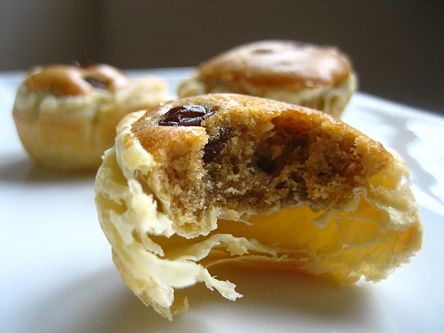 Peanut Butter Tartlet with Raisins