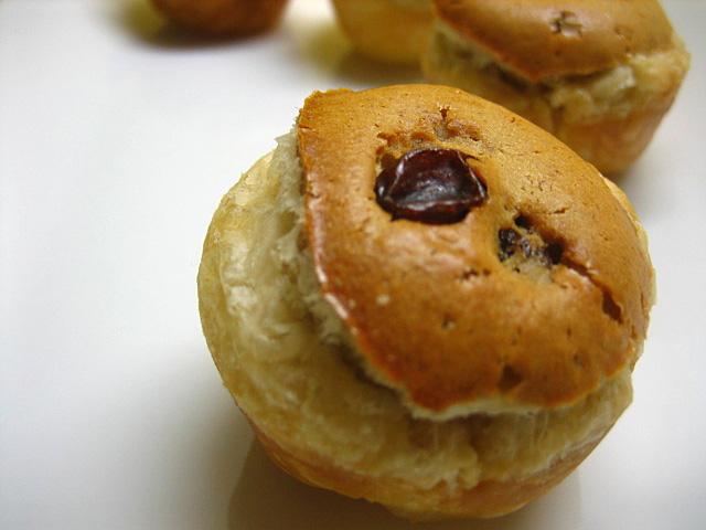 Peanut Butter Tartlet with Raisins