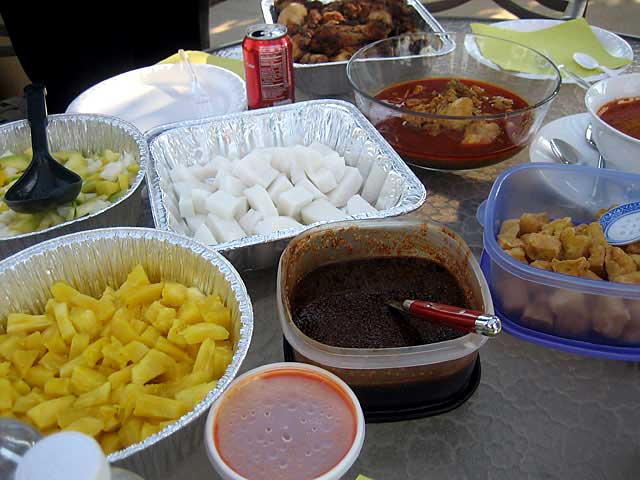 Rojak, Curry Chicken, and Nasi Impit