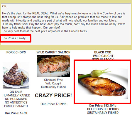 Rosa's Farm stole my Nobu Cod picture in their Jan 24th, 20098 email newsletter