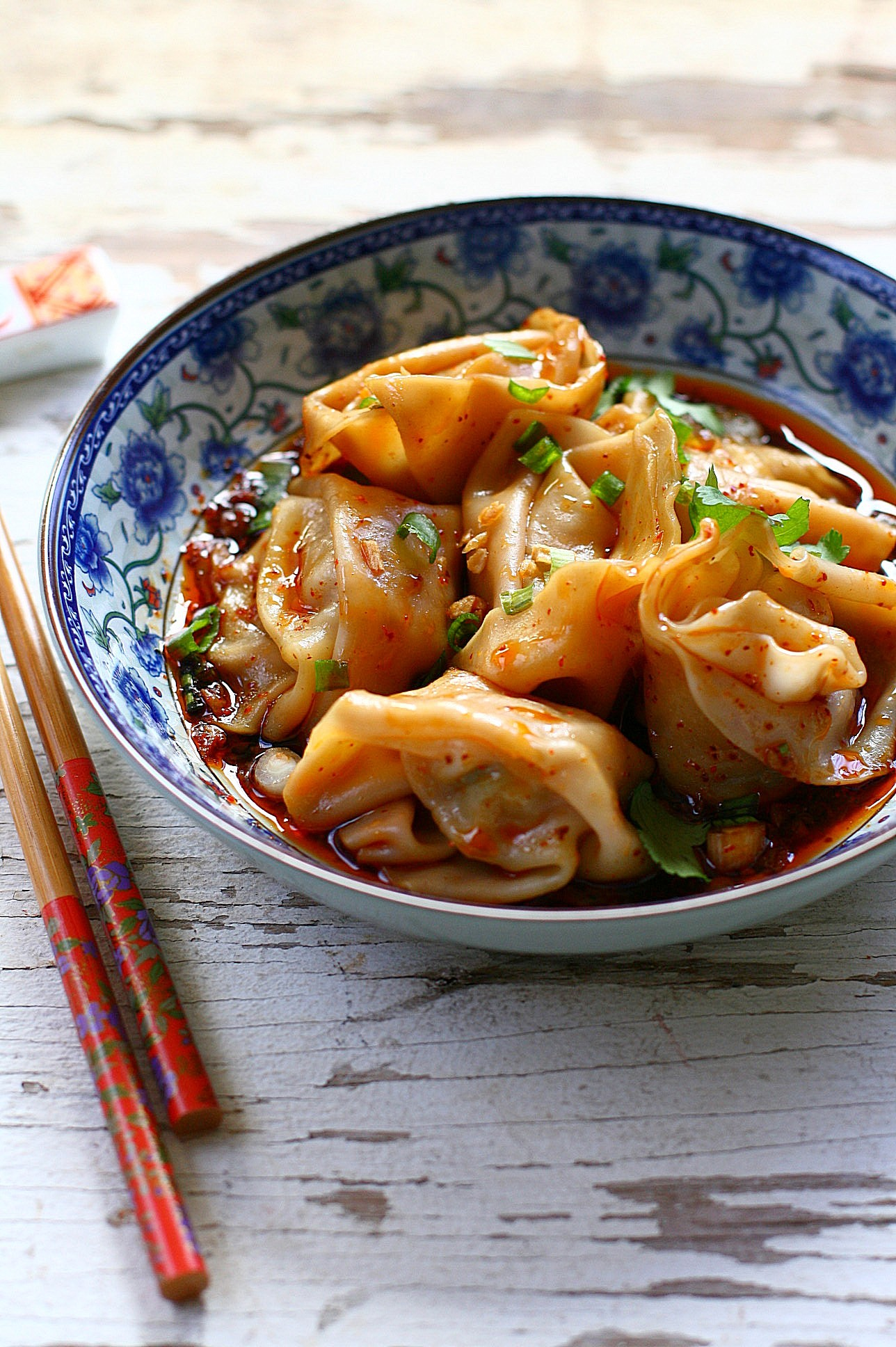 Sichuan Red Oil Wontons (红油抄手) - Easy Recipes at RasaMalaysia ...