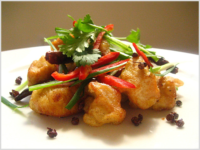 Fried Schezwan Chicken