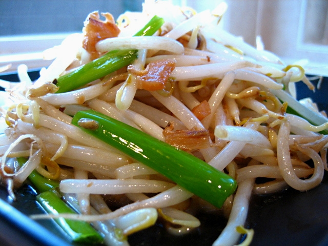 Stir-fried Bean Sprouts with Salty Fish / Taugeh Char Kiam Hu