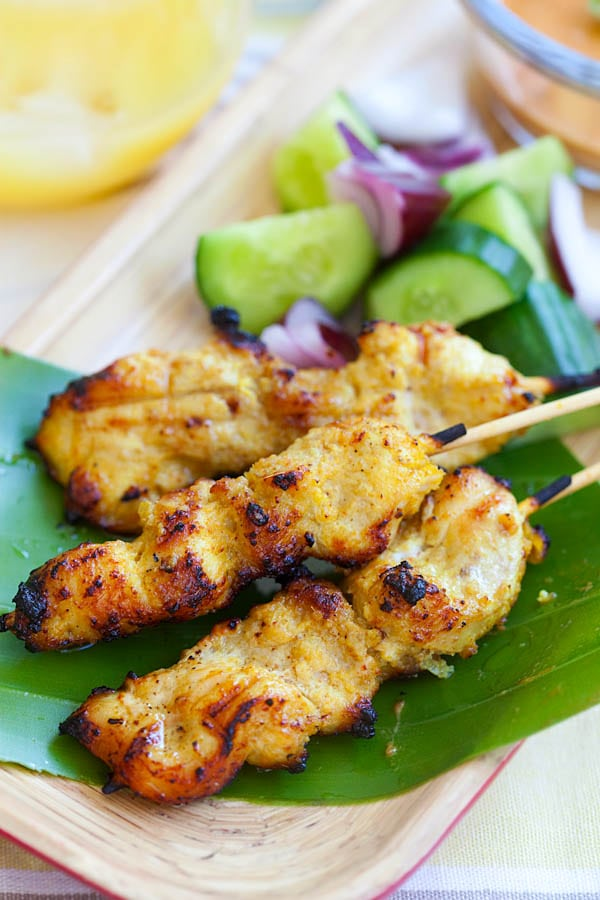 Asian Chicken Satay Recipe | Savory Skewer Recipes | Quick And Easy Homemade Recipes