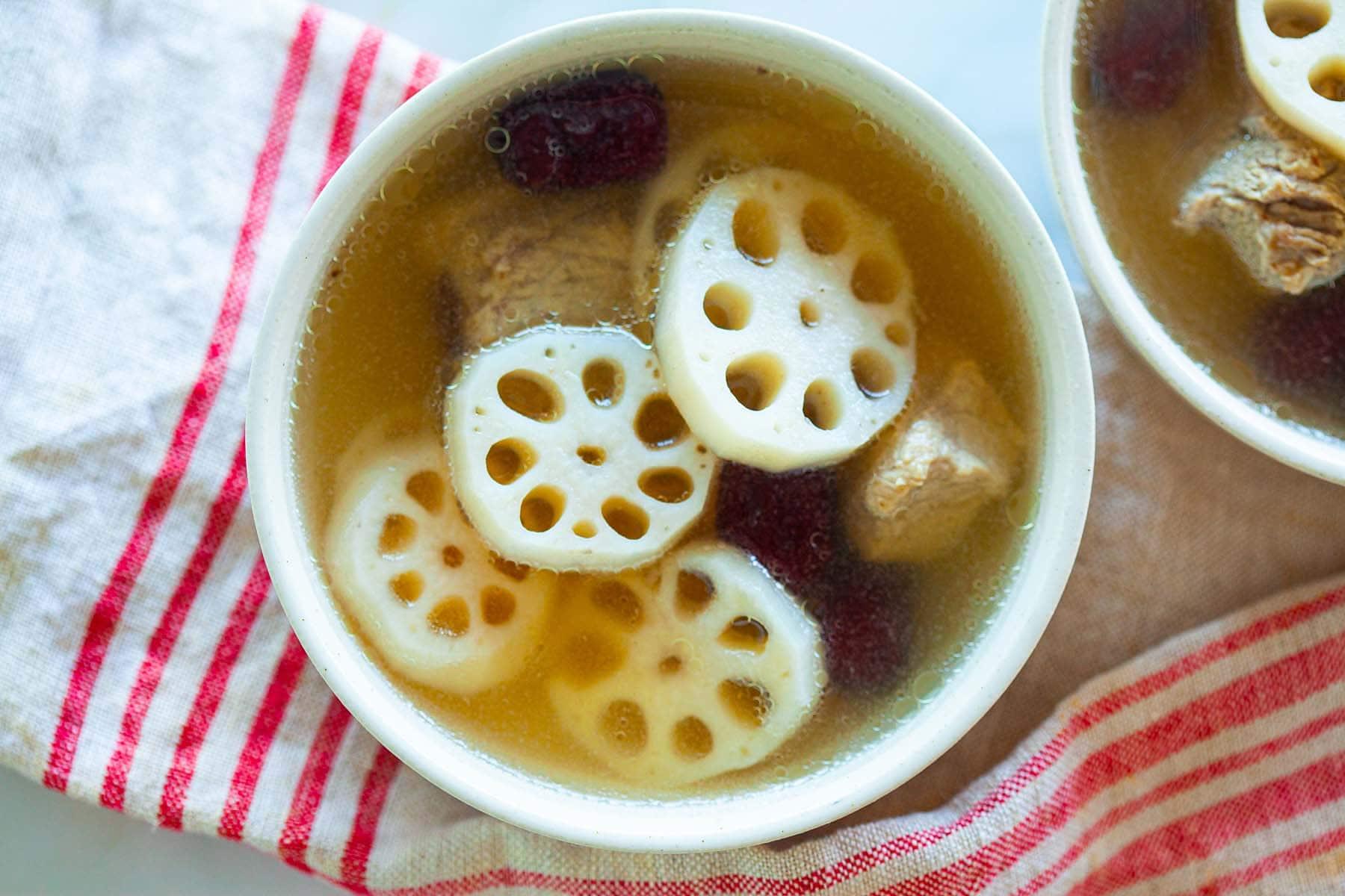 Lotus soup.