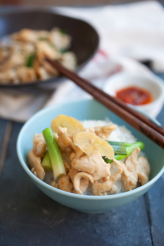 Ginger and scallion chicken easy delicious recipes ginger and scallion chicken is an easy chinese chicken dish made with ginger scallion and forumfinder Gallery