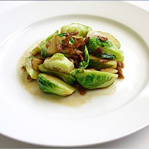Stir-fried Brussel Sprouts with Dried Sole