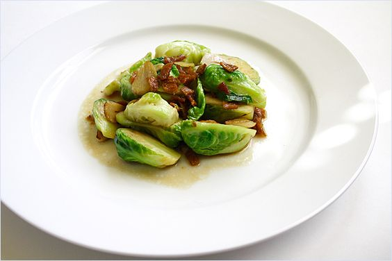 Stir-fried Brussels Sprout with Dried Sole recipe - The texture and taste of dried sole marry beautifully with crunchy vegetables such as Brussel sprouts.I can assure you that you won't be disappointed. | rasamalaysia.com