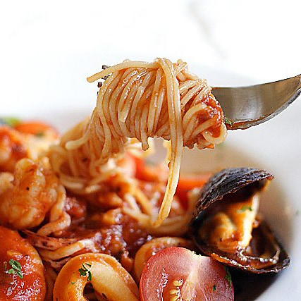 Angel Hair Pasta with Seafood Recipe