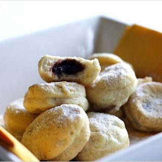 Souffle Egg White Balls with Red Bean Paste