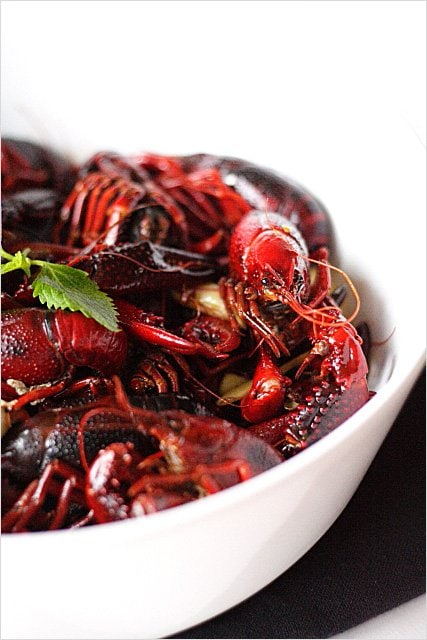 Sichuan Ma La Crawfish , ready to serve.