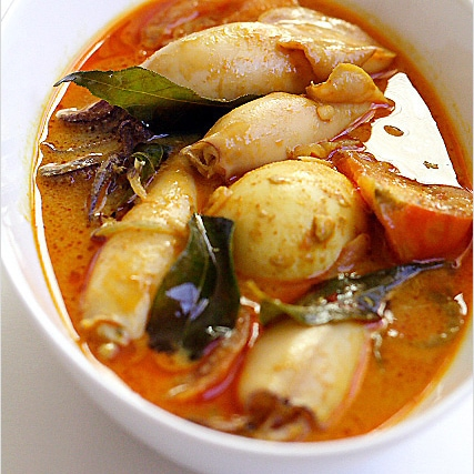 Squid Curry Recipe (Indian Gulai Sotong Recipe)