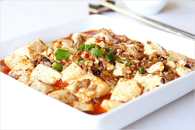 Try this Sichuan mapo tofu with extra chili that will make it extra spicy.