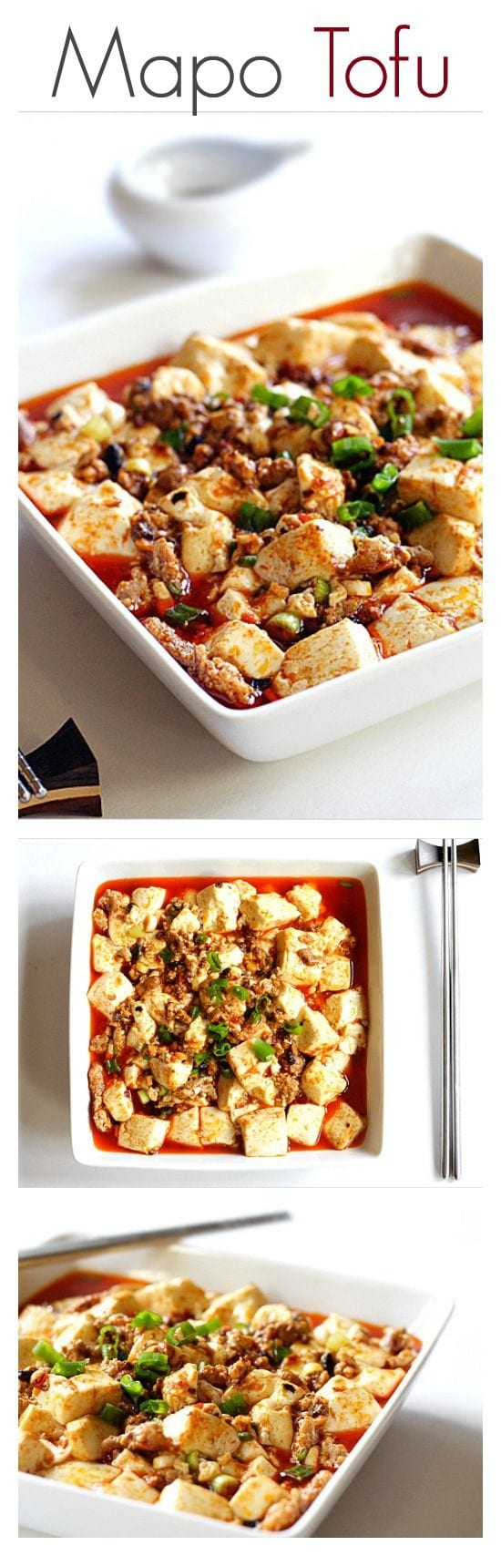 Mapo Tofu - the best Chinese tofu dish. Learn how to make it with this super easy and delicious recipe | rasamalaysia.com