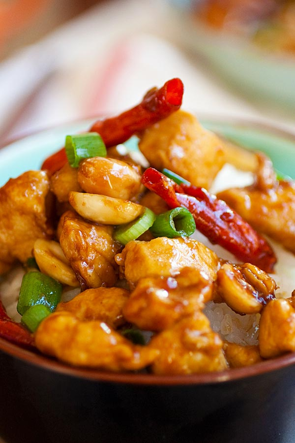 chicken in savory and spicy Kung Pao sauce. Best Kung Pao Chicken ...