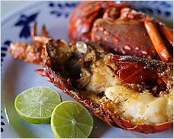 Lobsters in Puerto Nuevo, Baja California, Mexico