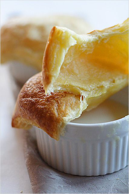 Almond tea with puff pastry. Almond tea is a Chinese dessert, this almond tea recipe is topped with baked puff pastry. Almond tea is great for winter days.   rasamalaysia.com